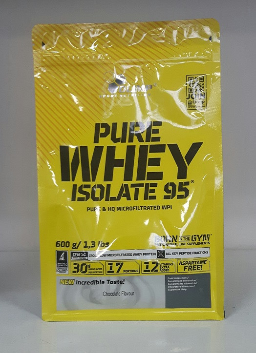 Olimp Pure Whey Isolate 95, 600g Vanille
