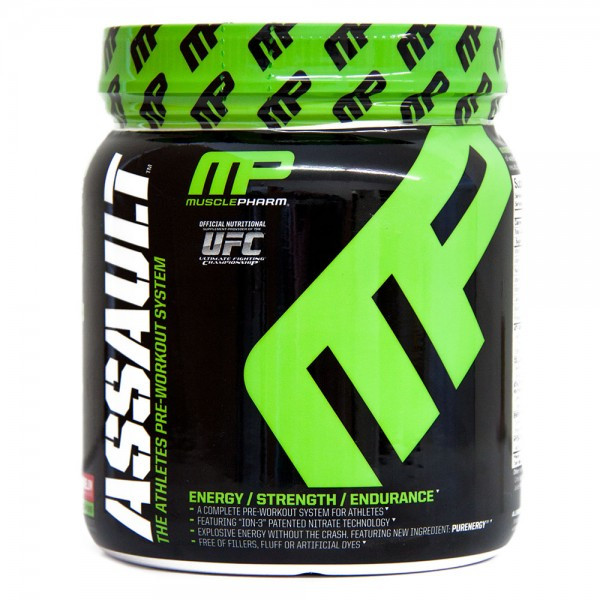 Muscle pharm assault 333g strawberry erdbeere muscle for Fitness depot wedding