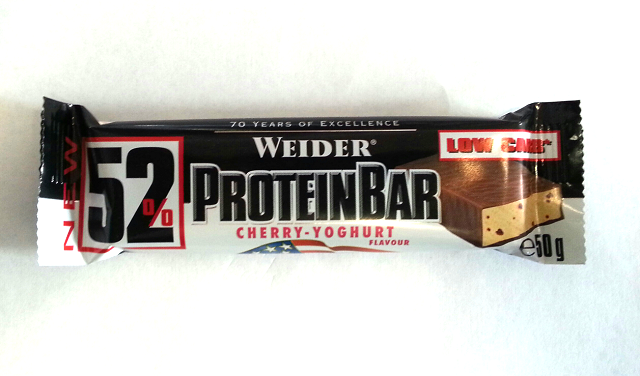 Weider 52 protein bar 50 g cherry yoghurt weider 52 for Fitness depot wedding